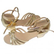 Pobofashion Kinder Tanzschuhe in gold
