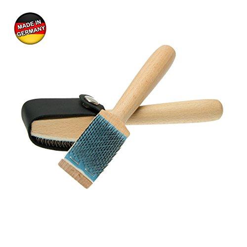 Aufraubürste mit Schutz für Tanzschuhe mit Chromledersohle - Tanzschuhbürste - Dance Shoe Brush