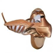 Pobofashion Klassische bronzefarbene Satin-Kinderschuhe für lateinamerikanische Tänze-Tanzschuhe
