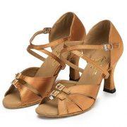 Minitoo-Damen-Satin-Tanzschuhe-fur-Latein-und-Tango-bronze-ein-paar