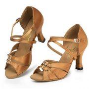 Minitoo-Damen-Satin-Tanzschuhe-fur-Latein-und-Tango-bronze-paar