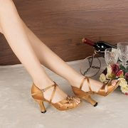 Minitoo-Damen-Satin-Tanzschuhe-fur-Latein-und-Tango-bronze-paar-seite