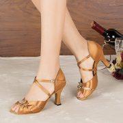 Minitoo-Damen-Satin-Tanzschuhe-fur-Latein-und-Tango-bronze-seite